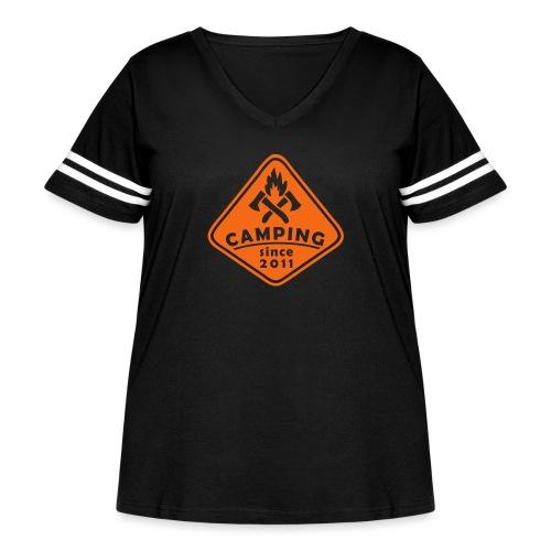 Campfire 2011 - Women's Curvy Vintage Sport T-Shirt