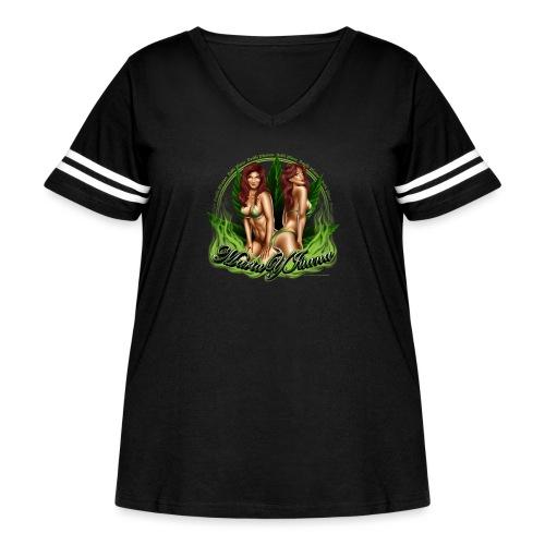 Maria y Juana by RollinLow - Women's Curvy Vintage Sport T-Shirt