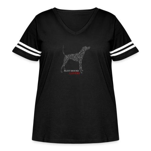 Plott Hound Lovers - Women's Curvy Vintage Sport T-Shirt