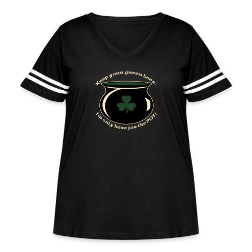 hereforthepot - Women's Curvy Vintage Sport T-Shirt