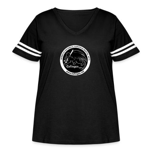 Esfinges Logo Black - Women's Curvy Vintage Sport T-Shirt
