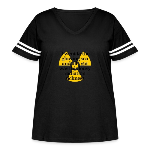 Fallout Glowing Sea T - Women's Curvy Vintage Sport T-Shirt