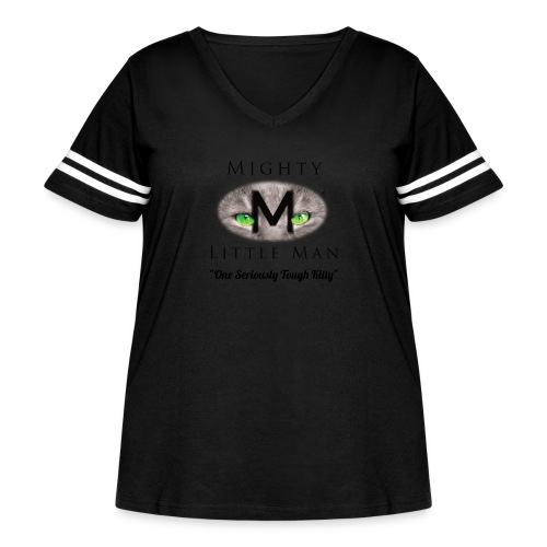 MIGHTY LITTLE MAN Logo - Women's Curvy Vintage Sport T-Shirt
