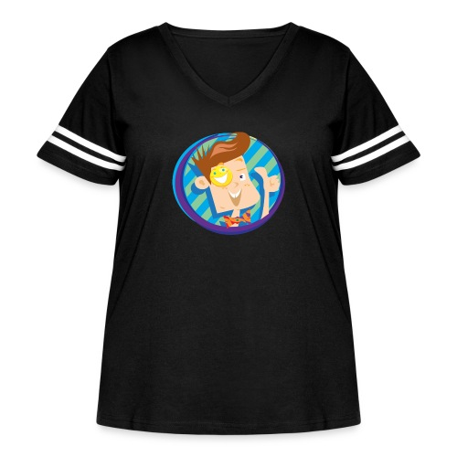 funnel boy - Women's Curvy Vintage Sport T-Shirt