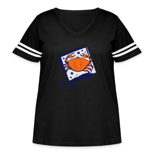 Cancer - Women's Curvy Vintage Sport T-Shirt