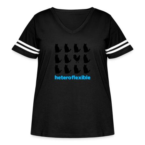 Heteroflexible Male - Women's Curvy Vintage Sport T-Shirt