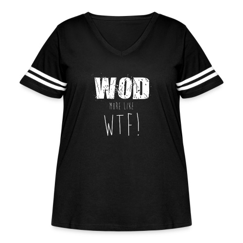 WOD more like WTF - Women's Curvy Vintage Sport T-Shirt