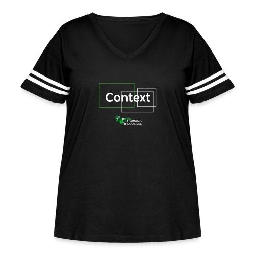 Context for the Education Shift - Women's Curvy Vintage Sport T-Shirt