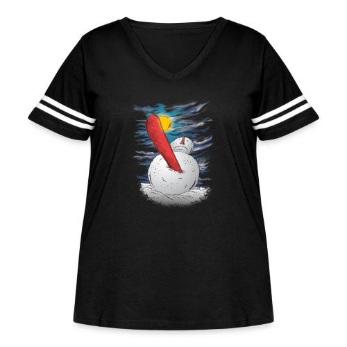 the accident - Women's Curvy Vintage Sport T-Shirt