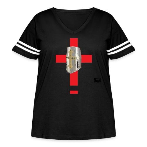 crusader_red - Women's Curvy Vintage Sport T-Shirt