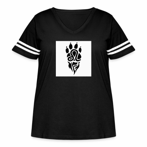 Black Leo Zodiac Sign - Women's Curvy Vintage Sport T-Shirt