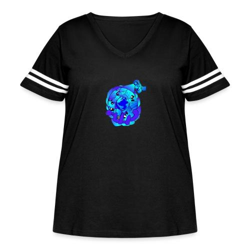 TruBlu Cosmos. - Women's Curvy Vintage Sport T-Shirt