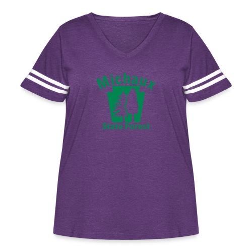 Michaux State Forest Keystone (w/trees) - Women's Curvy Vintage Sport T-Shirt