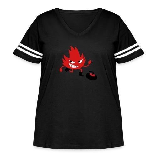 Leif Curling - Women's Curvy Vintage Sport T-Shirt