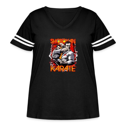 Shotokan Karate - Women's Curvy Vintage Sport T-Shirt