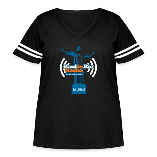 Paul in Rio Radio - The Thumbs up Corcovado #2 - Women's Curvy Vintage Sport T-Shirt