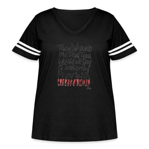 Paranoia - Women's Curvy Vintage Sport T-Shirt