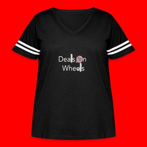 OxyGang: Deals On Wheels - Women's Curvy Vintage Sport T-Shirt