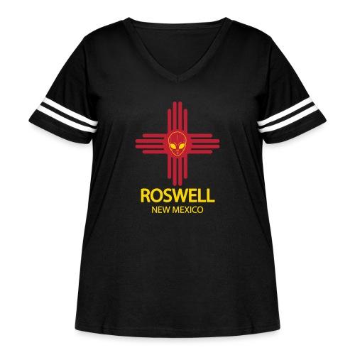 Alien New Mexico - Women's Curvy Vintage Sport T-Shirt
