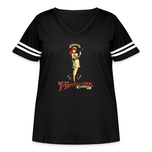 Painless Electric Pinstriping - Women's Curvy Vintage Sport T-Shirt