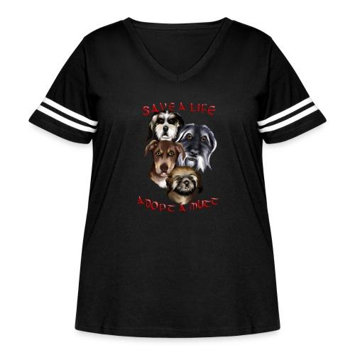 Adopt A Mutt - Women's Curvy Vintage Sport T-Shirt