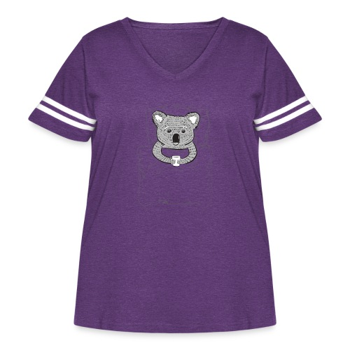 Print With Koala Lying In A Bed - Women's Curvy Vintage Sport T-Shirt
