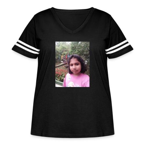 Tanisha - Women's Curvy Vintage Sport T-Shirt