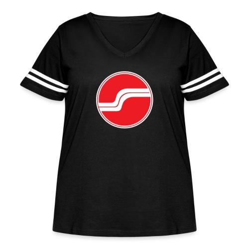 dassauna logoA png - Women's Curvy Vintage Sport T-Shirt
