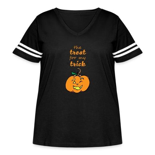 Trick or Treat Maternity - Women's Curvy Vintage Sport T-Shirt