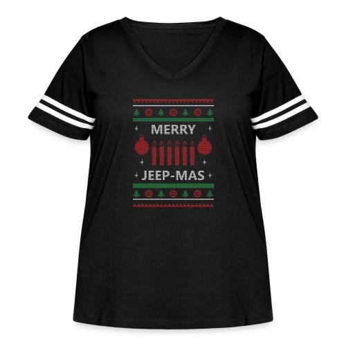 Merry Jeep-Mas - Women's Curvy Vintage Sport T-Shirt