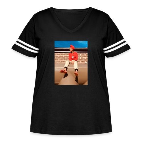 Flamin_Danger - Women's Curvy Vintage Sport T-Shirt