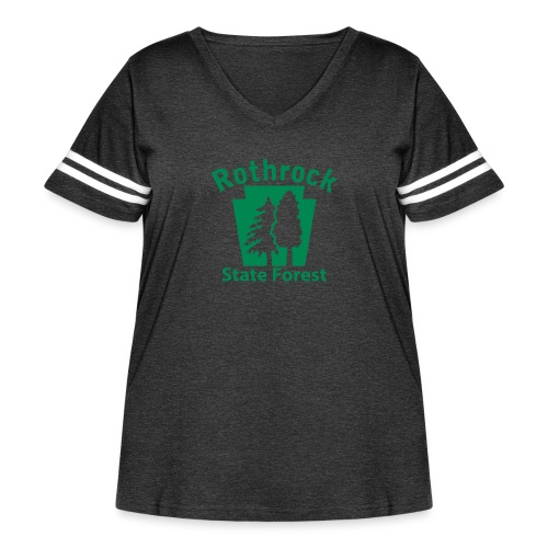 Rothrock State Forest Keystone (w/trees) - Women's Curvy Vintage Sport T-Shirt