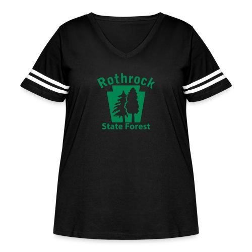 Rothrock State Forest Keystone (w/trees) - Women's Curvy Vintage Sport T-Shirt