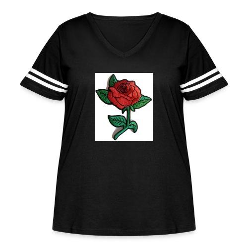 t-shirt roses clothing🌷 - Women's Curvy Vintage Sport T-Shirt