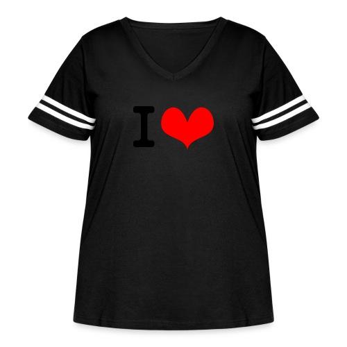 I Love what - Women's Curvy Vintage Sport T-Shirt