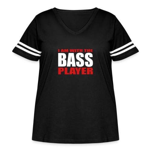 I am with the Bass Player - Women's Curvy Vintage Sport T-Shirt