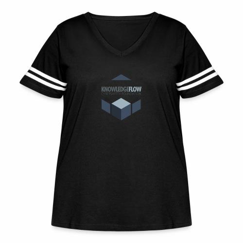 KnowledgeFlow Cybersafety Foundation - Women's Curvy Vintage Sports T-Shirt