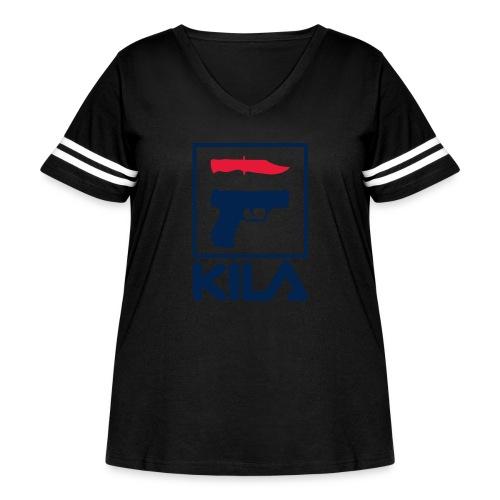 Kila - Women's Curvy Vintage Sport T-Shirt