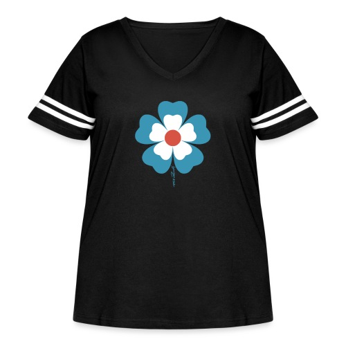flower time - Women's Curvy Vintage Sport T-Shirt