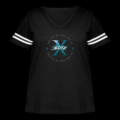 BOTZ X Circle Logo - Women's Curvy Vintage Sport T-Shirt