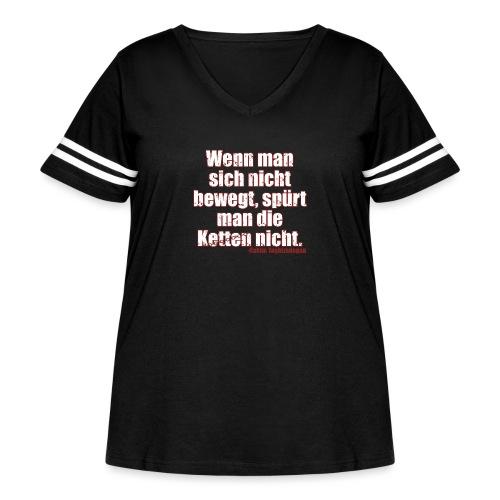 Chains Libertarian Quote Rahim Taghizadegan - Women's Curvy Vintage Sport T-Shirt