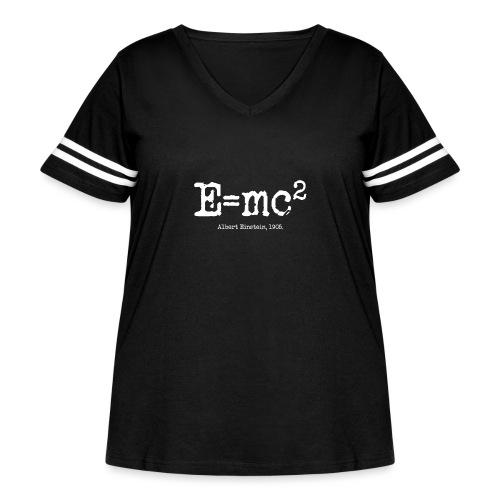 E=mc2 - Women's Curvy Vintage Sport T-Shirt