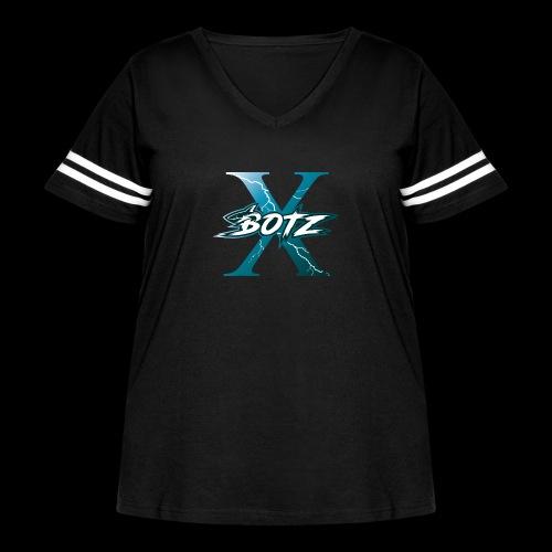 BOTZ X Logo Plain - Women's Curvy Vintage Sport T-Shirt
