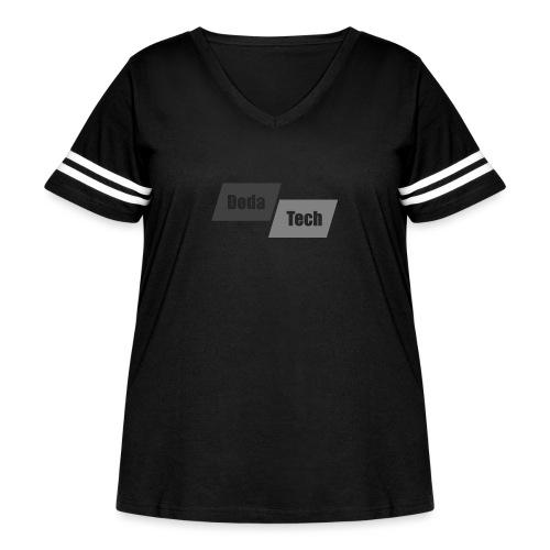DodaTech Logo - Women's Curvy Vintage Sport T-Shirt