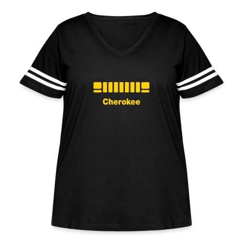 XJ Cherokee + front - Women's Curvy Vintage Sport T-Shirt