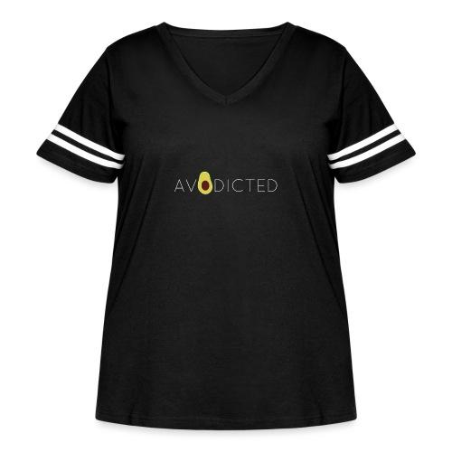 Avodicted - Women's Curvy Vintage Sport T-Shirt