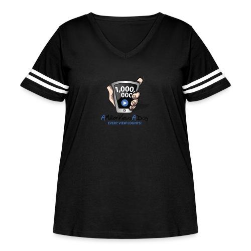 AMillionViewsADay - every view counts! - Women's Curvy Vintage Sport T-Shirt
