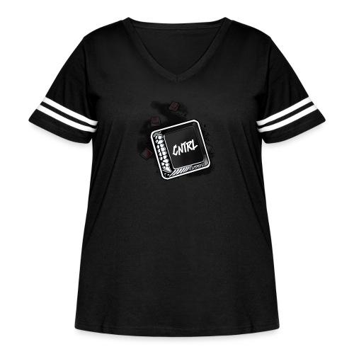 New CNTRL Logo - Women's Curvy Vintage Sport T-Shirt