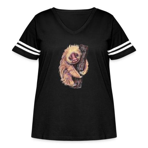 Sloth - Women's Curvy Vintage Sport T-Shirt