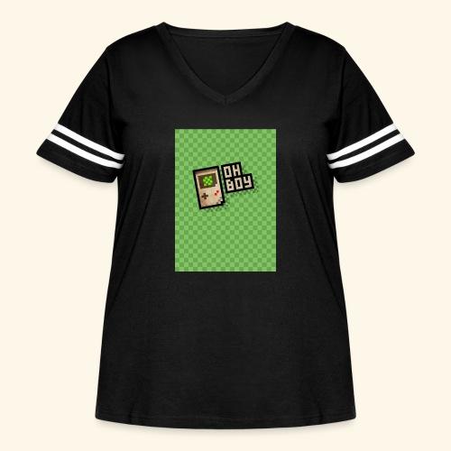 oh boy handy - Women's Curvy Vintage Sport T-Shirt